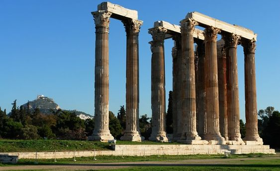 Arquitectura del templo griego de Zeus.