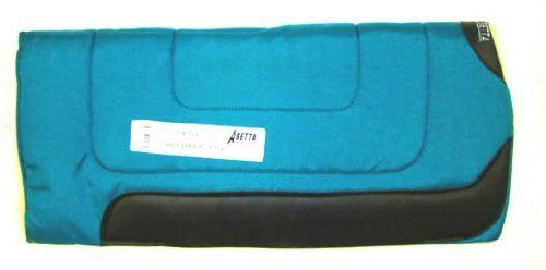 """ABETTA TURQUOISE Cordura Nylon & Fleece Western Saddle Pad by Action. Save 34 Off!. $39.50. NEW Abetta Brand Fleece Lined Cordura Pad !MADE IN THE USA! This is a size 30"""" x 30"""" x 1"""" Cordura Nylon top Saddle Pad. Lined with thick Hospital fleece lining on bottom. Thick hair felt center.Best Value for the price ! Top quality item from a known Saddlery. Suggested Retail is $60.00. Color: TURQUOISE"""
