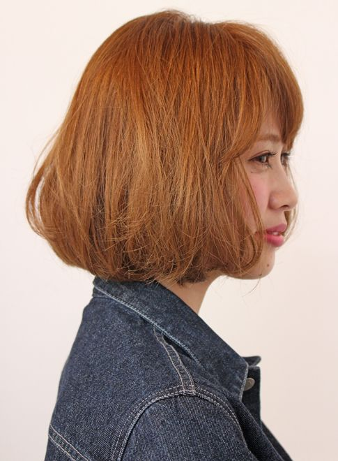 【ボブ】デニム×ボブ☆おしゃれクラシカルボブ/MINX shimokitazawaの髪型・ヘアスタイル・ヘアカタログ|2015秋冬