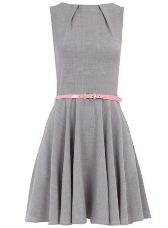 Grey flared dress