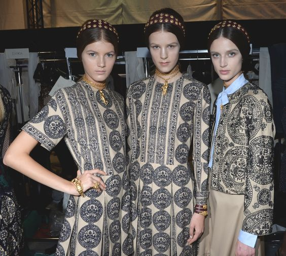A hint of vintage. -- Valentino SS 2014 Backstage.