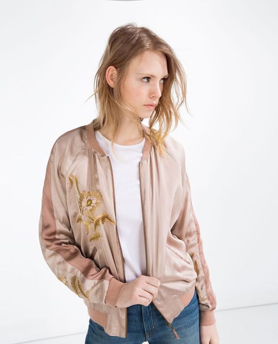 veste style bomber brod e bombers femme zara france shopping cart pinterest vestes zara. Black Bedroom Furniture Sets. Home Design Ideas