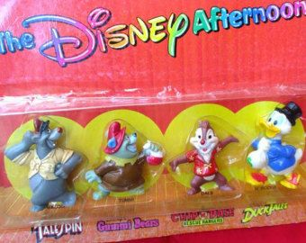 Disney toy figures cartoon characters TV show The Disney Afternoon 1991 Kellogg…