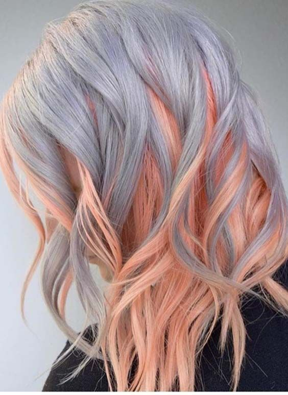24 Amazing Combination Of Hair Colors For Long Hair 2018 Stylescue Long Hair Color Diy Hair Dye Hair Color Pastel