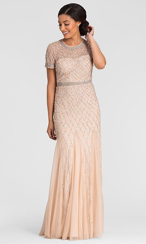 Adrianna Papell Champagne Mother Of The Bride Dress A Line Wedding Dress Mob Dresses Brides Mom Dress
