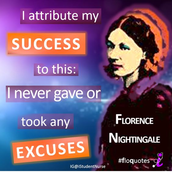 Florence Nightingale was a #nurse pioneer that didn't give up. Repin this image to motivate other #nurses and student nurses to strive for success, via @iStudentNruse.