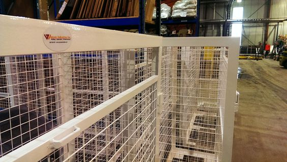 These great tool storage cages come powder coated, with 6 900lb castors, Calgarywelders.com