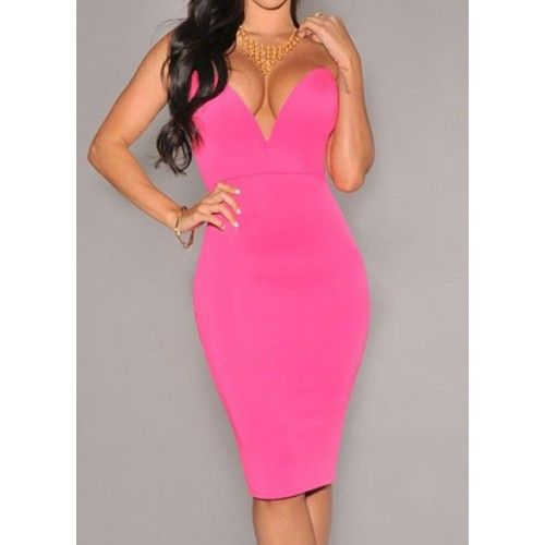 Strapless Sleeveles Plunging Neck Solid Color Packet Buttock Dress For Women red rose black (Strapless Sleeveles Plunging Neck S) by http://www.irockbags.com/strapless-sleeveles-plunging-neck-solid-color-packet-buttock-dress-for-women-red-rose-black