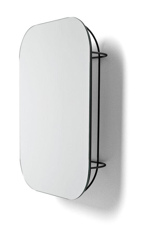 """$99.95   19.7""""H x 4.3""""D x 14.9""""W   Cage Mirror design by Form Us With Love for Menu"""