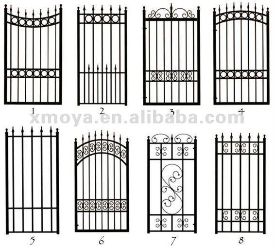 cerca de jardim ferro:Wrought Iron Garden Gate Designs