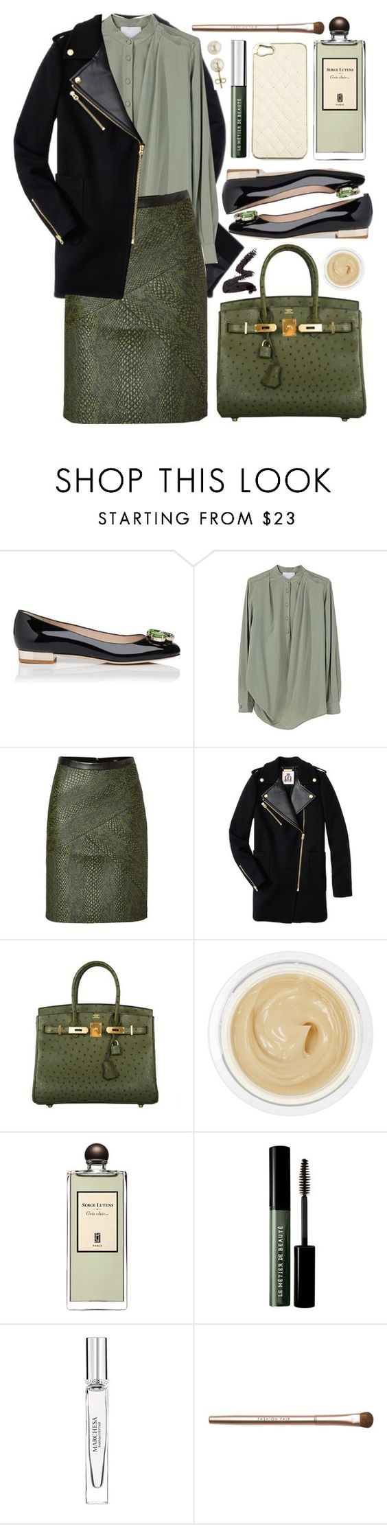 """""""Untitled #323"""" by lagyare ❤ liked on Polyvore featuring L.K.Bennett, Superdry, 3.1 Phillip Lim, TIBI, Juicy Couture, Hermès, Chantecaille, MAKE UP FOR EVER, Serge Lutens and Le Métier de Beauté"""