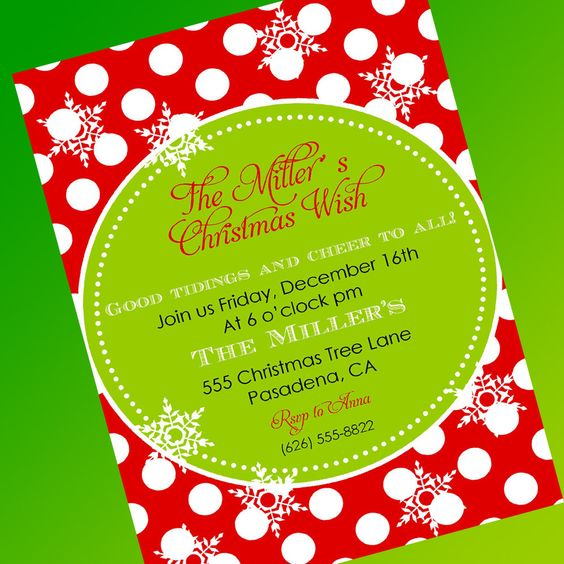 Free Christmas Party Invitation Template – Get Together Invitation Template