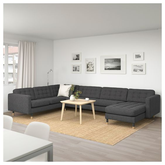 Landskrona Canape D Angle 6 Places Avec Meridienne Gunnared