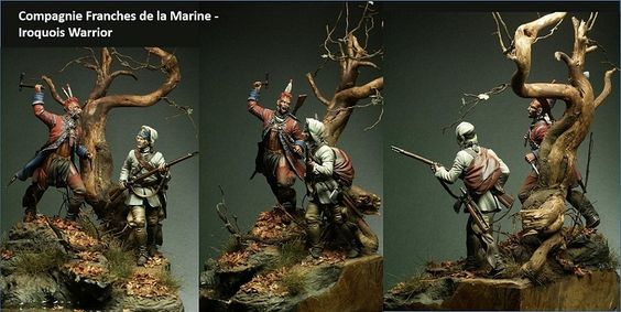 Compagnie Franches de la Marine – Iroquois Warrior 75 mm Model Figure