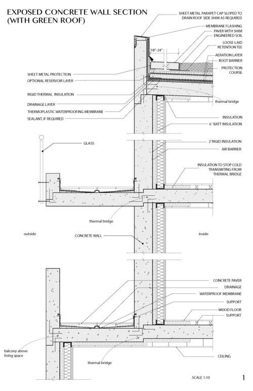 Concrete Section Tech 1 Jpg Concrete Architecture Architectural Section Precast Concrete