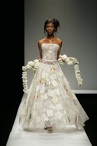 One of Marianne Fassler's wedding dress designs: