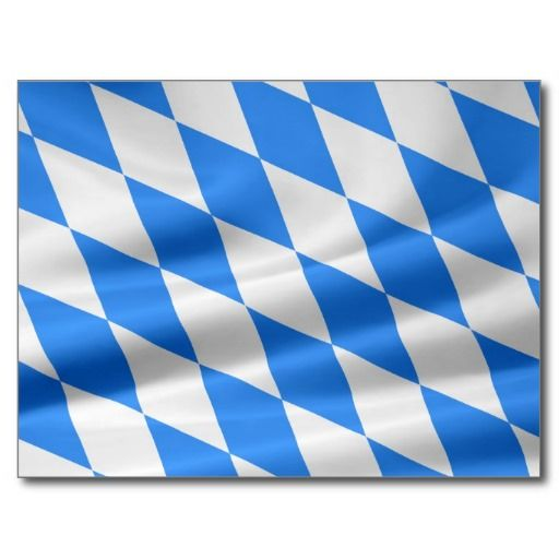 Weiß-Blaue bayerische Flagge Postkarte #verkauft auf #zazzle