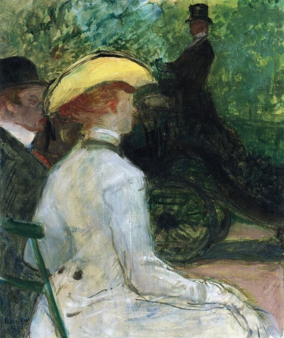 In the Bois de Boulogne - Henri de Toulouse-Lautrec