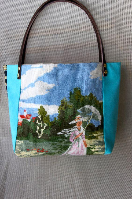 MELUSINE Bag in vintage tapestry by QuatreJanvier on Etsy, €55.00
