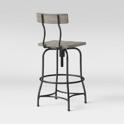 Woodsboro Adjustable Barstool Threshold Adjustable Bar Stools Bar Stools Leather Counter Stools