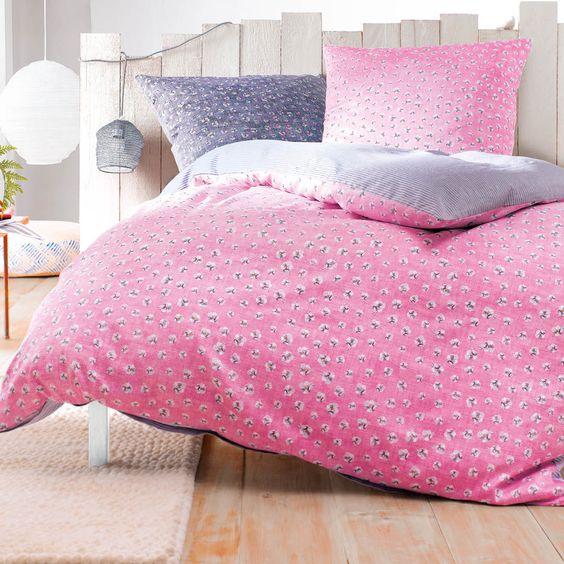 Kuschelig Weich Und Individuell Die Hinreissende Casanova Baumwoll Wende Bettwasche In Rosa Begeistert Mit Einem Dezen Bettwasche Kuschelig Schone Schlafzimmer