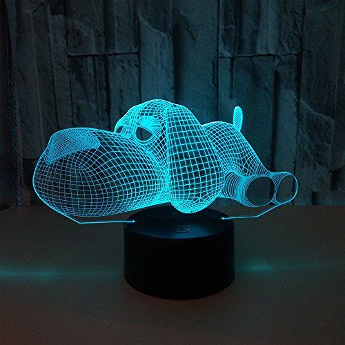 Amazon Reviews Lying Down Cosy Dog Puppy 3d Illusion Platform Led Lamp Night Lighting Usb Touch Light Children Cute Ni 3d Led Night Light Lamp Led Night Light