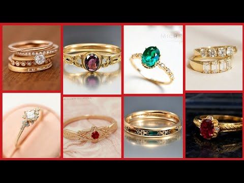 Most Beautiful Light Weight Gold Rings Designs 2020 Latest Trending Gold Rings Style Youtube In 2020 Ring Designs Fashion Rings Gold Ring Designs