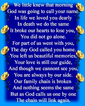 In Loving Memory Poems | In loving memory of Beth Kunce