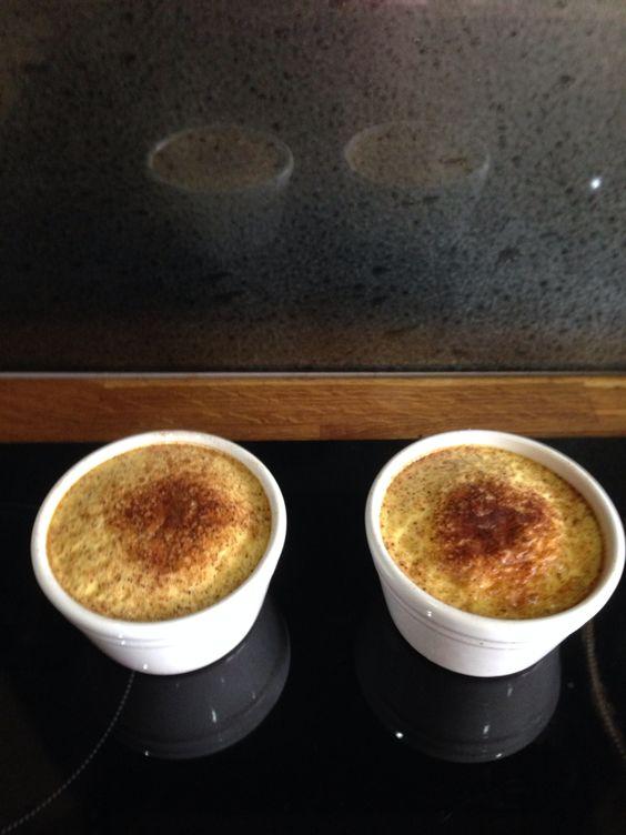 Slimming world egg custard tarts - syn free.   3 eggs 1 muller light yogurt (vanilla, toffee or banana and custard)  2 tsp sweetener 1 tsp vanilla extract  Combine in a bowl and bake in ramekins for 30 mins 180 degrees.