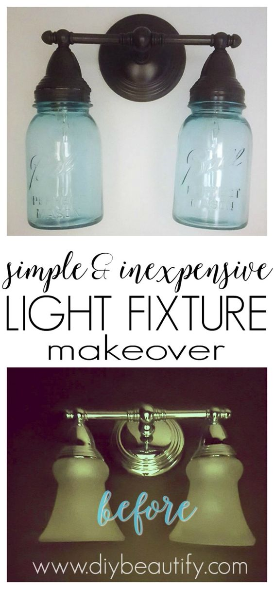 how to make a mason jar light fixture