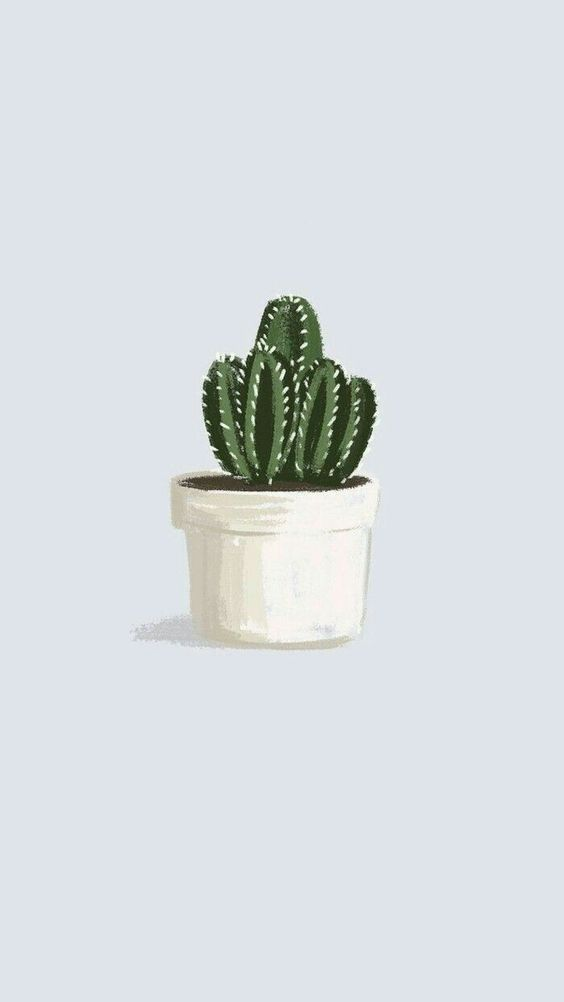 Painting Inspiration Cute Cactus Drawings Iphone Wallpaper Glitter Plant Wallpaper Aesthetic Wallpapers