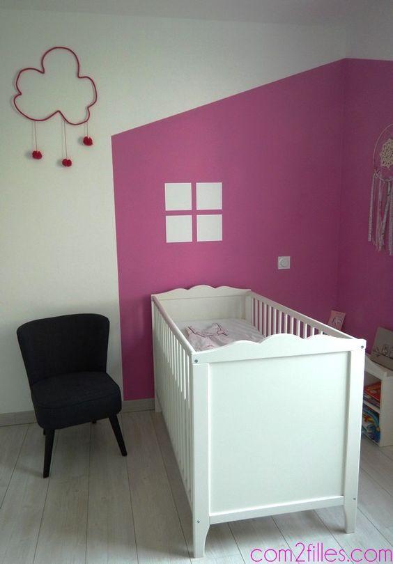decoration chambre enfant , tete de lit peinture
