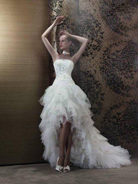 Robe de mariée courte devant 2013 © Pronuptia