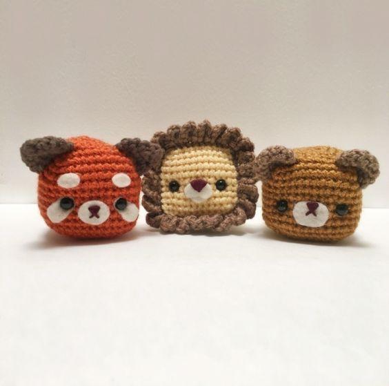 Amigurumi Cube Tutorial : Wild animals, Amigurumi and Cubes on Pinterest