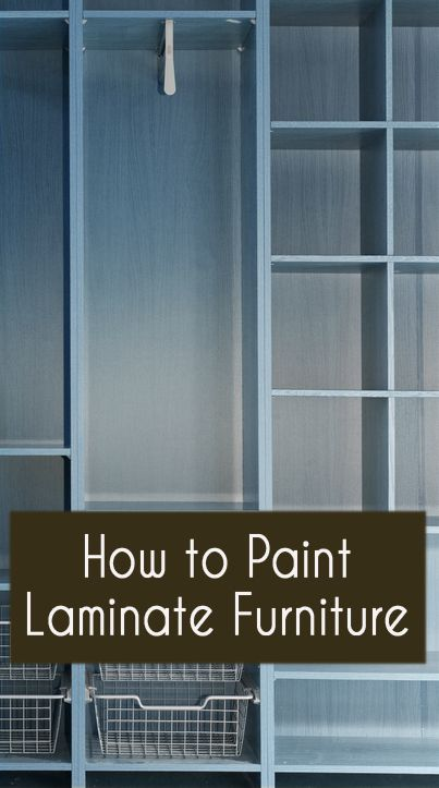 pWhen painting laminate furniture, there are just a few things to know that are different than painting real wood furniture. With laminate furniture, you are basically dealing with a surface that is basically plastic instead of a surface that is wood. Sanding? With plastic, you cant really sand the surface, /p