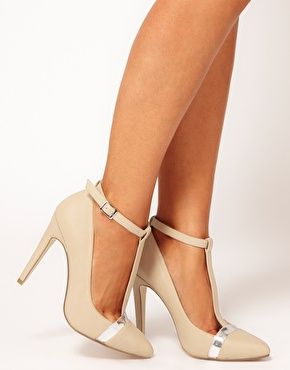 Enlarge ASOS PROMOTE Pointed High Heels with T-Bar