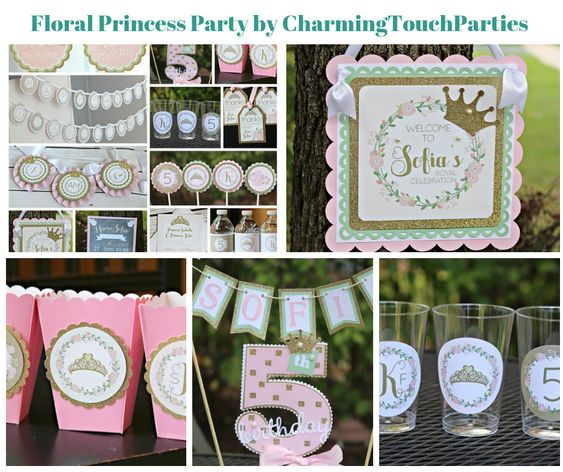 Floral Princess Party by CharmingTouchParties