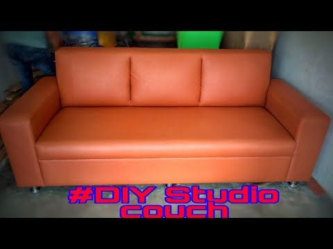 Diy Studio Couch How To Make A Simple Sofa Youtube Simple Sofa Diy Sofa Sofa