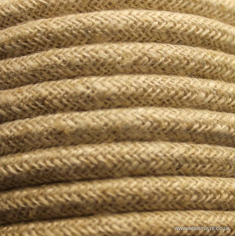 linen round fabric flex 3 core braided cloth cable lighting wire brown linen fabric lighting