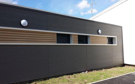 Habillage de façade en bois composite claire-voie innovant бытовки