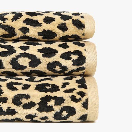 Zara Home Leopard Print Jacquard Towel Towel Zara Home Zara Home Australia