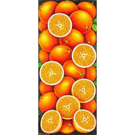 NOVICA Realistic Signed Painting of Oranges from Guatemala (180 AUD) ❤ liked on Polyvore featuring home, home decor, wall art, paintings, realist paintings, canvas painting, canvas home decor, canvas wall art, fruit wall art and orange home decor