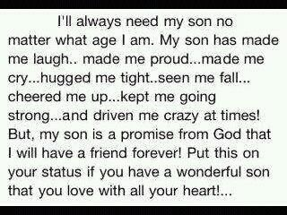 sons: Son S, Son Quotes, Wonderful Sons, My Heart, Thought, Love My Son, Favorite Quotes, Baby Boy, Love My Boys