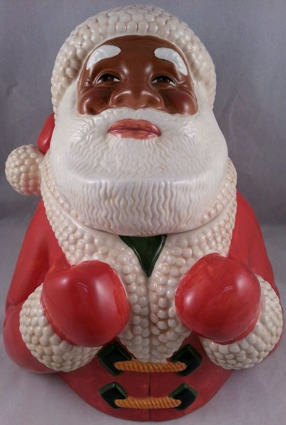 JOLLY OL' SOUL 2000 Cookie Jar by Clay Art | Santa Cookie Jars ...
