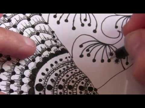 Zendoodle Sampler Zentangle Pattern Styles Tutorial