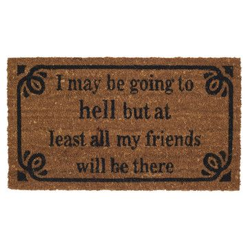 My design inspiration: Go To Hell Doormat on Fab.