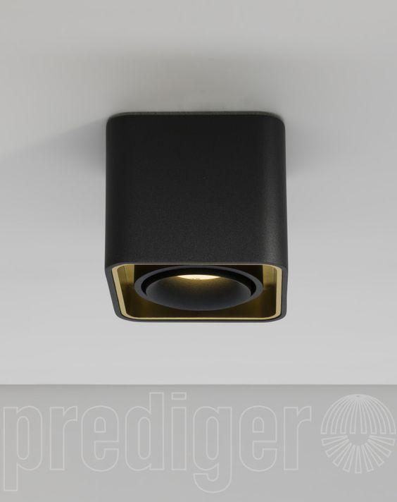Mini Light Case LED Deckenleuchte Außen Schwarz-Innen Gold (B-Ware)