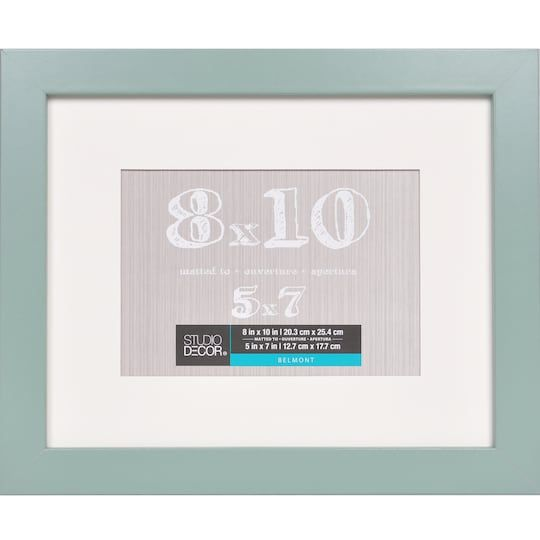 Celadon Belmont Frame With Mat By Studio Decor Studio Decor Cheap Picture Frames Affordable Frames