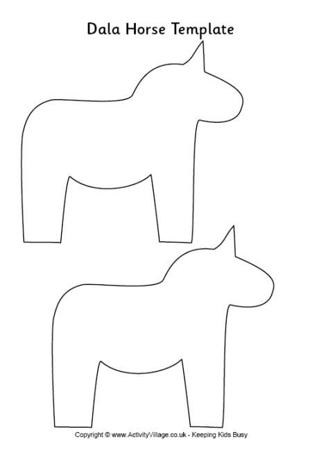 free dala horse coloring pages - photo#30