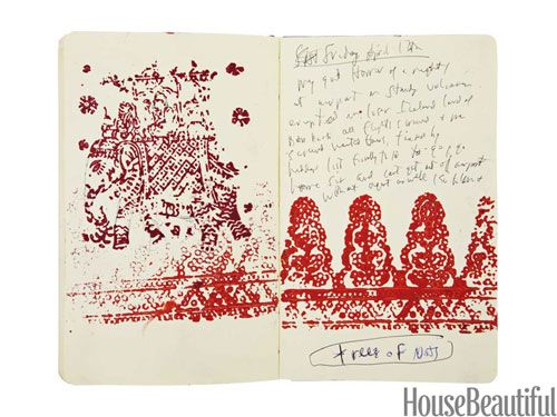 Inspiration notebook of designer John Robshaw: Inspiration Notebook, Jr S Journal, Home Decor, Homes, Woodblock Print, John Robshaw, Creative Inspiration, Idea Journals